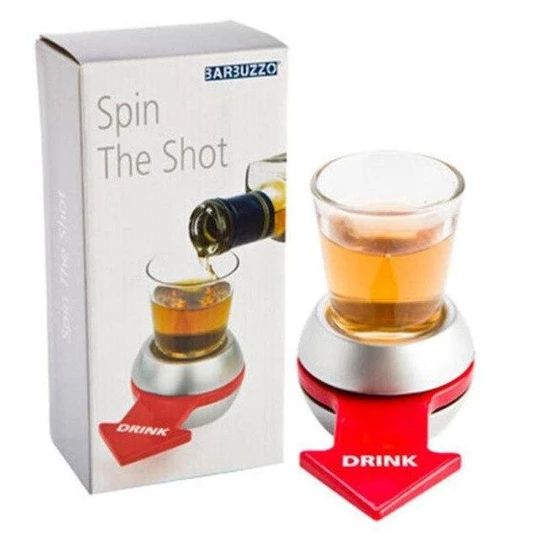 Fun Spinner Spin The Shot Roulette Glass Alcohol Drinking Game Party Gift