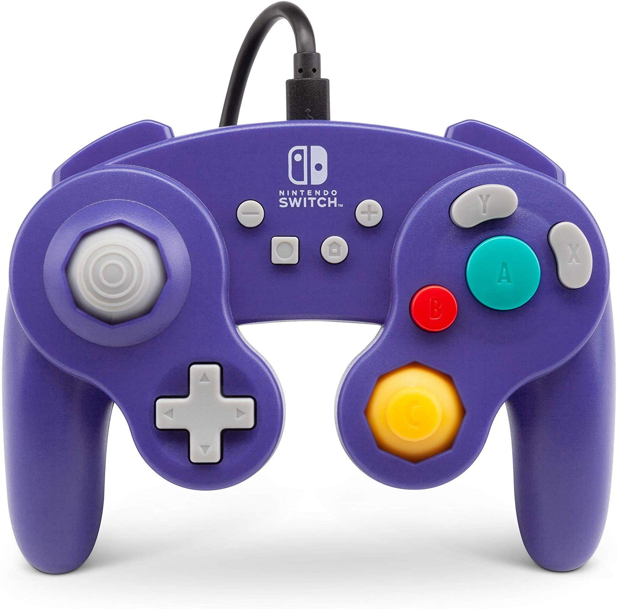 Amazon Com Powera Wired Controller For Nintendo Switch Gamecube Style Purple Nintendo Switch Video Game Gamecube Controller Buy Nintendo Switch Gamecube