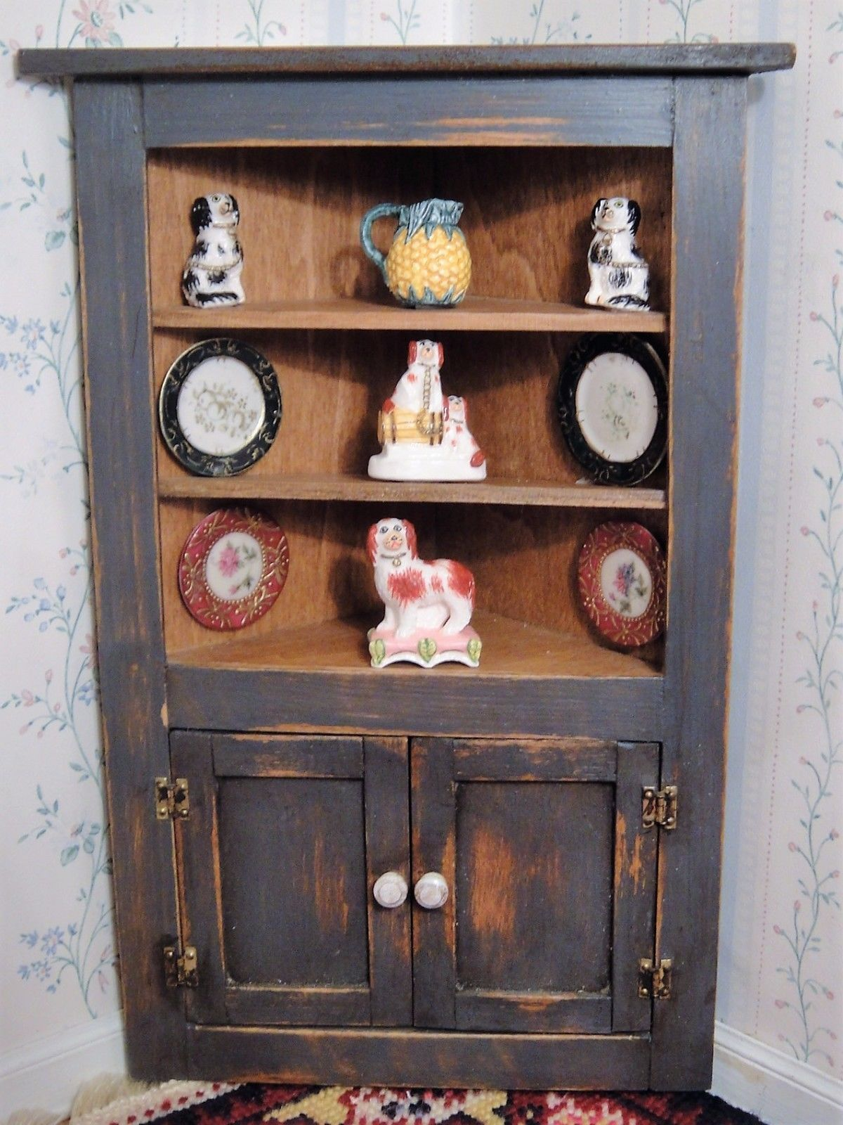 CJ\'s Corner Country Cabinet with Tiny Tales Staffordshire & Corn ...