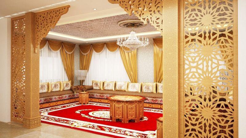 salon marocain de luxe d co maison pinte. Black Bedroom Furniture Sets. Home Design Ideas