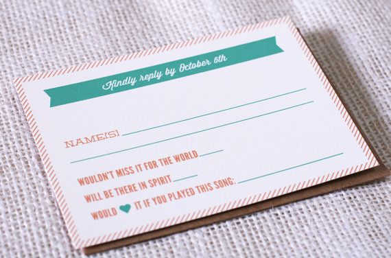 Dj Song Request On Rsvp Cards 9 Super Fun Ideas For Your Wedding