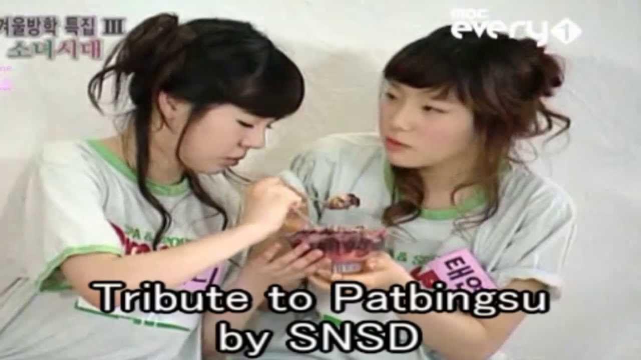 SNSD - Tribute to Patbingsu (Shaved Ice Dessert)