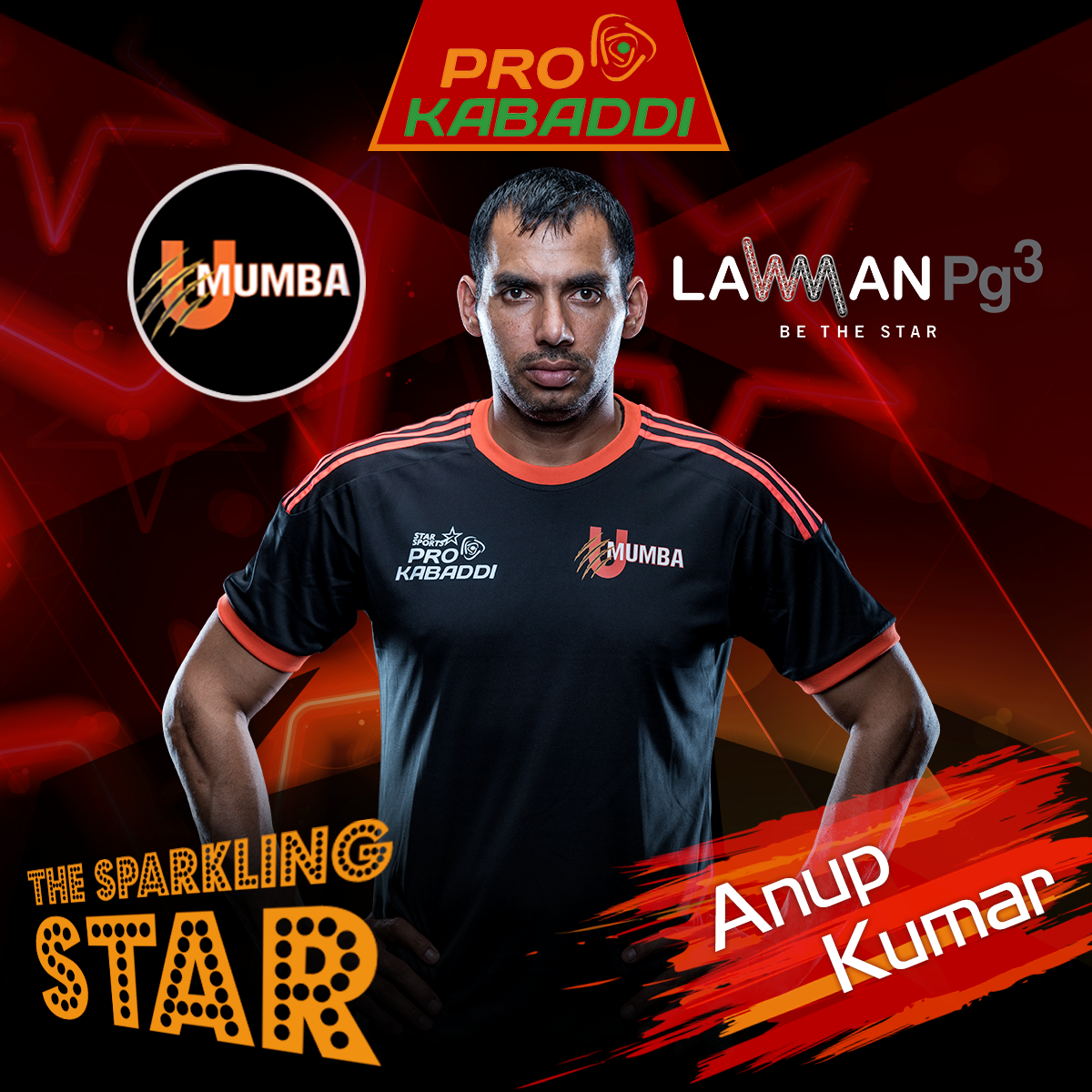 After Yesterday S Match We Are Certain Of Anup Kumar Being The Sparkling Star Of The U Mumba Team Pkl Oneteamonezid Pro Kabaddi League League Teams