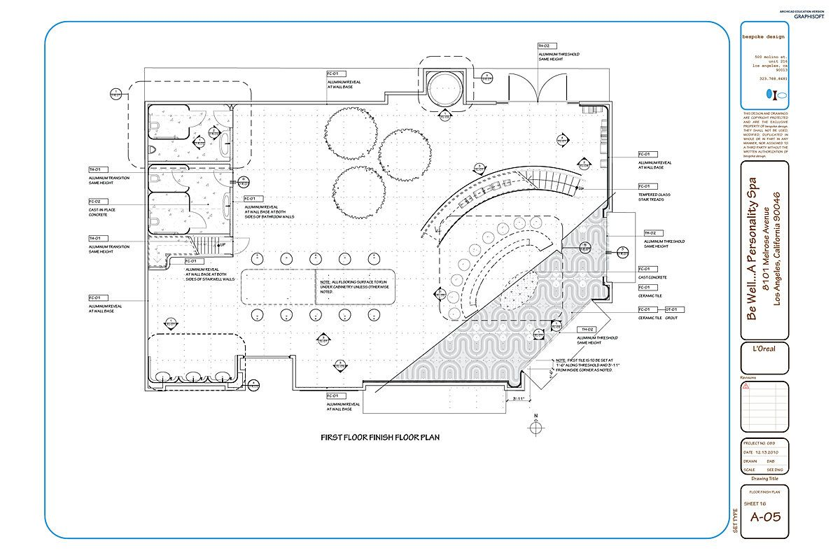 Finishes Plan Construction Documents Wellness Design How To Plan