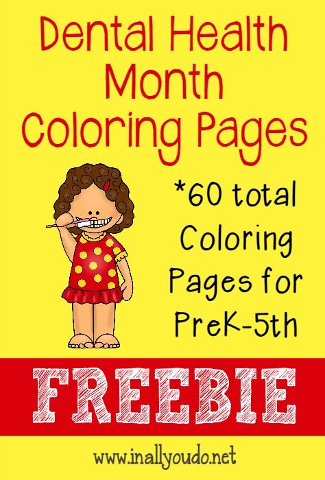 Dental Health Month Coloring Pages in 2018 | Dental Health theme ...