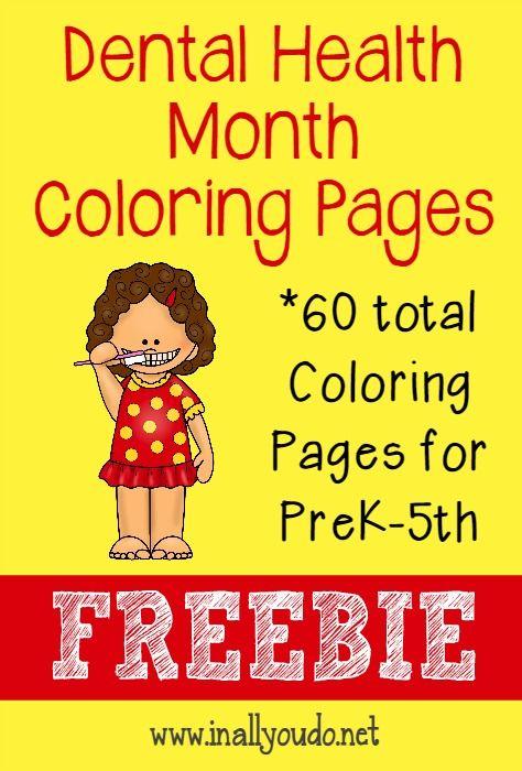Dental Health Month Coloring Pages | Dental health month, Dental ...