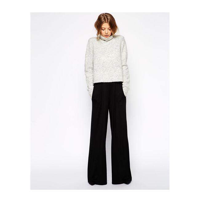 Pantalón ancho negro  44d30cdeed77