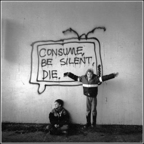 consume / be silent / die