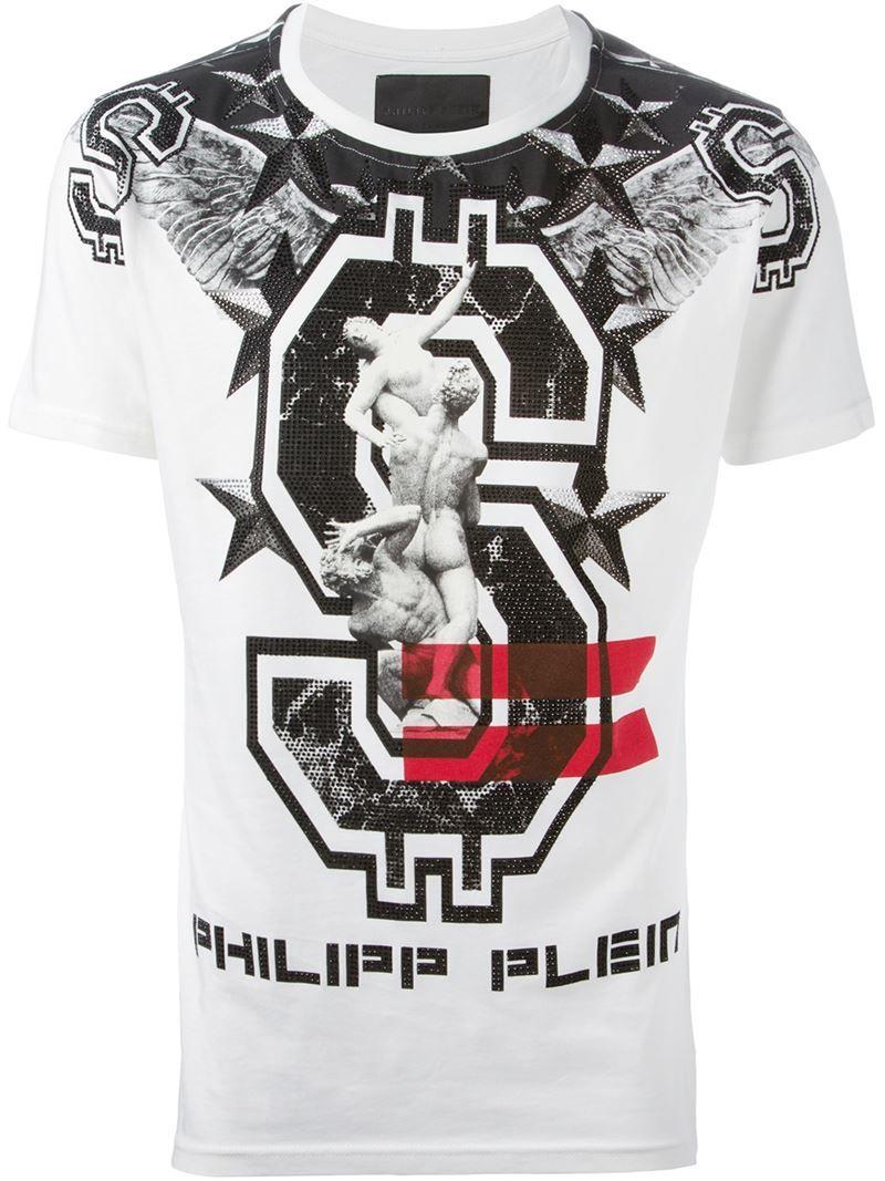 Philipp Plein Mens A Bad One Tee Shirt Black - Shirts & Tops