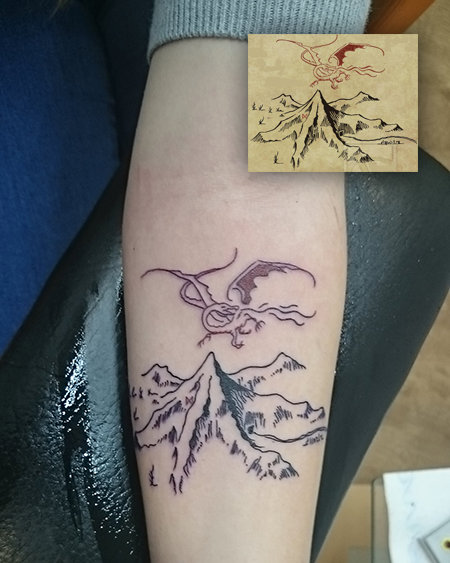 Underblackenedskies: Far Over The Misty Mountains Cold. New Tattoo ~
