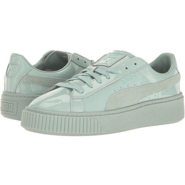 5370ff59dd2 PUMA Basket Platform Patent (Blue Surf Blue Surf) Women s Shoes ( 100)