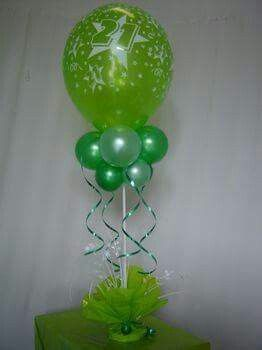 Globo Verde Globos Centro De Mesa Con Globos Decoracion Con Globos