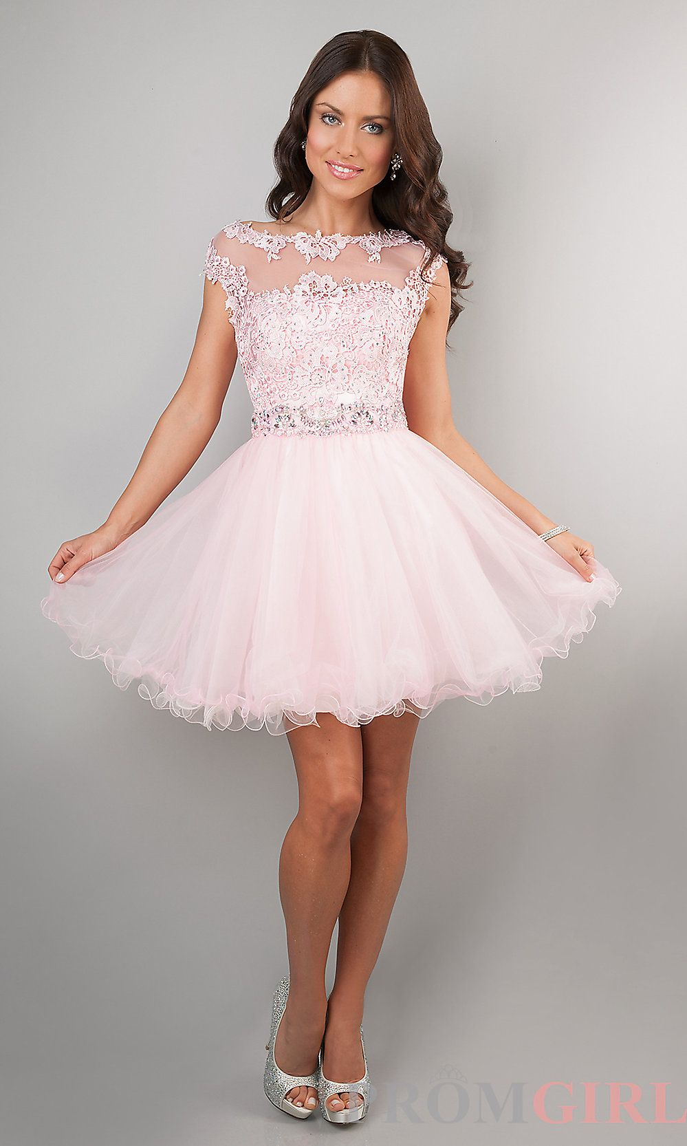 Short Cap Sleeve Lace Dress By Dave And Johnny Junior Cocktail Dresses Tulle Homecoming Dress Homecoming Dresses 2015 [ 1666 x 999 Pixel ]