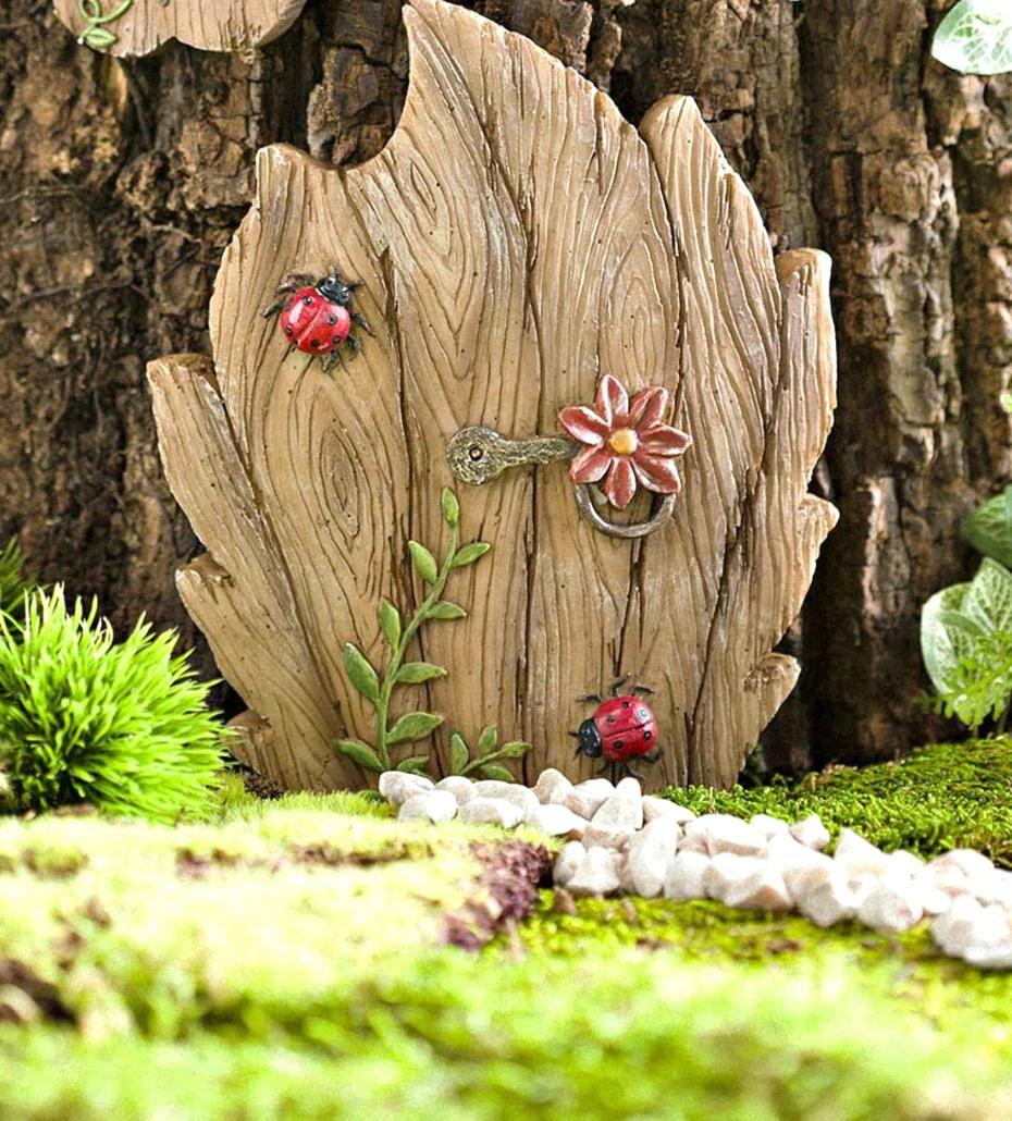 Fairy Garden Fun Flower Daisy Chairs Weathered Grey or Brown Miniature