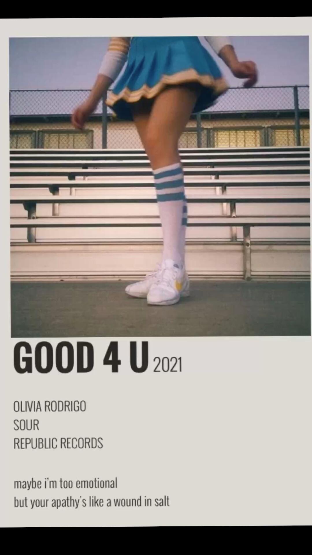 Good 4 u !!!! Olivia Rodrigo!!! ❤️