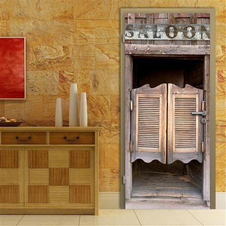 Walplus Thrilling Saloon 90x210cm Door Mural