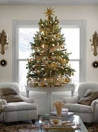 Image Result For Small Christmas Tree On Table Elegant Christmas Decor Neutral Christmas Decor Small Christmas Trees Decorated
