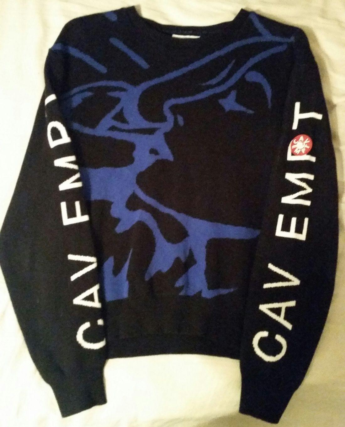 Cav Empt C.E. Intarsia Knit Sweater Final Drop Size S $121 - Grailed