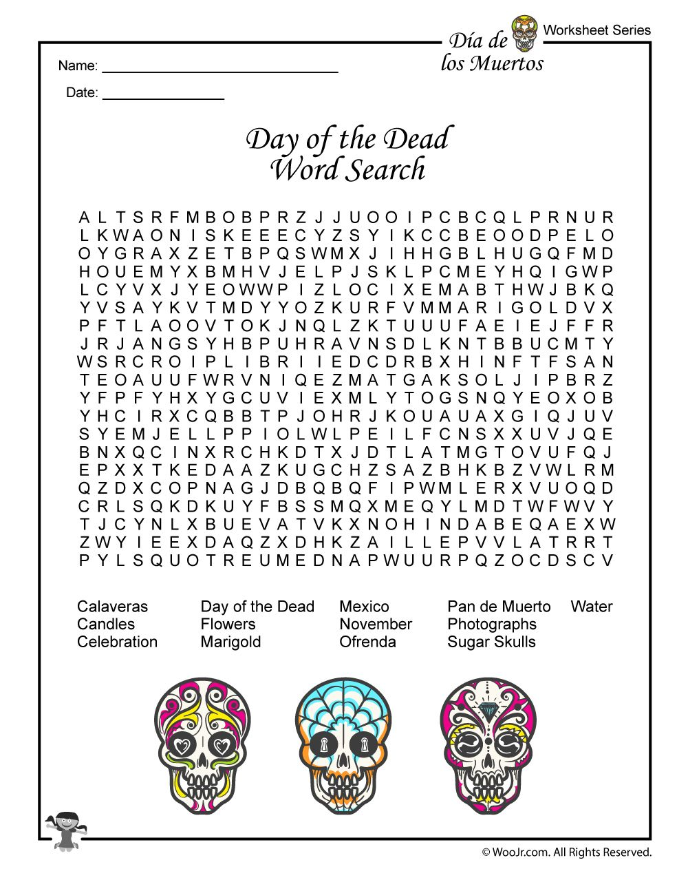 Day Of The Dead Activities Worksheets Lesson Plan Dead Words Day Of The Dead Day Of The Dead Art