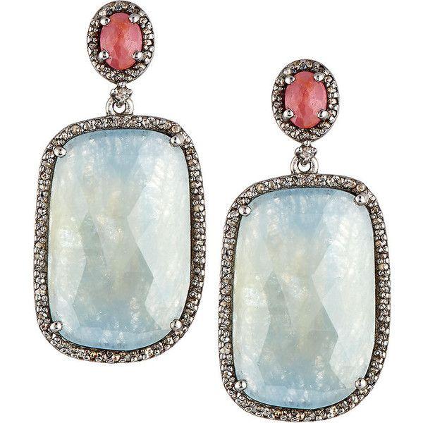 Bavna Multi-Sapphire Drop Earrings f5KQb