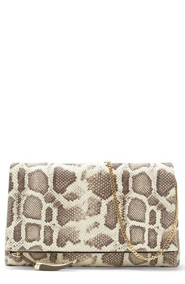 Women's Vince Camuto 'Val' Oversize Clutch - Brown