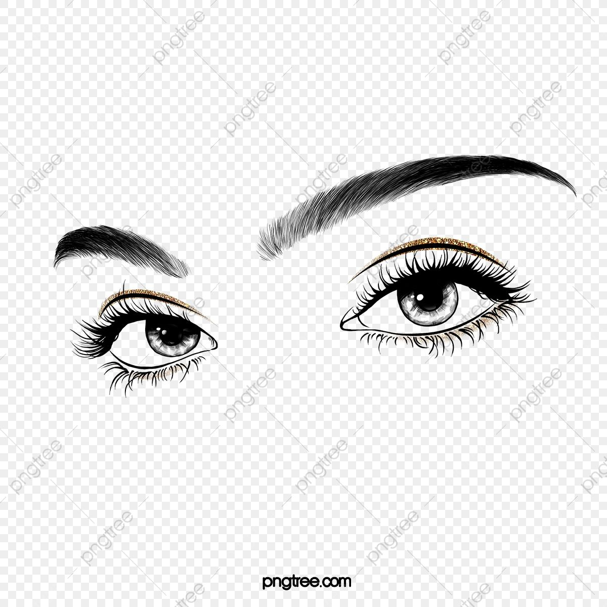 Color Makeup Eye Lashes Eyebrow Clipart Eyes Black And White Cosmetics Png Transparent Clipart Image And Psd File For Free Download Hologram Colors Eyelashes Simple Nail Art Designs