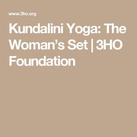 kundalini yoga the woman's set  3ho foundation