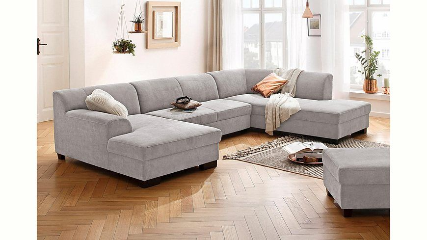Home affaire Wohnlandschaft »Wanda«, wahlweise mit Bettfunktion in 4 - wohnzimmer couch gemutlich