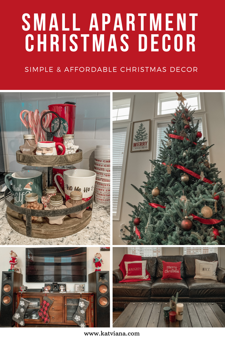 Small apartment Christmas decor #smallapartmentchristmasdecor Small apartment Christmas decor- simple and affordable ways to decorate your home for the holidays #christmasdecor #smallapartment #apartmentdecor #affordabledecor #simpledecor #holidaydecor