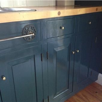 Best Kitchen Cabinet Make Over With Hague Blue Déco Entrée 400 x 300
