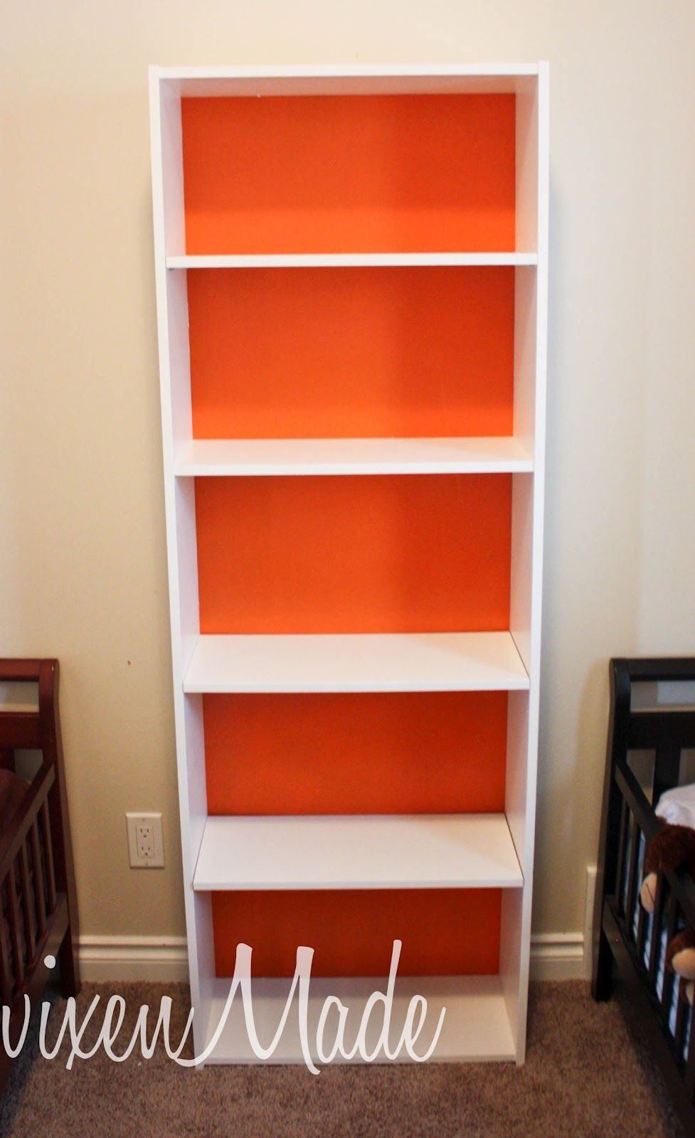 Orange Bookshelf Backing