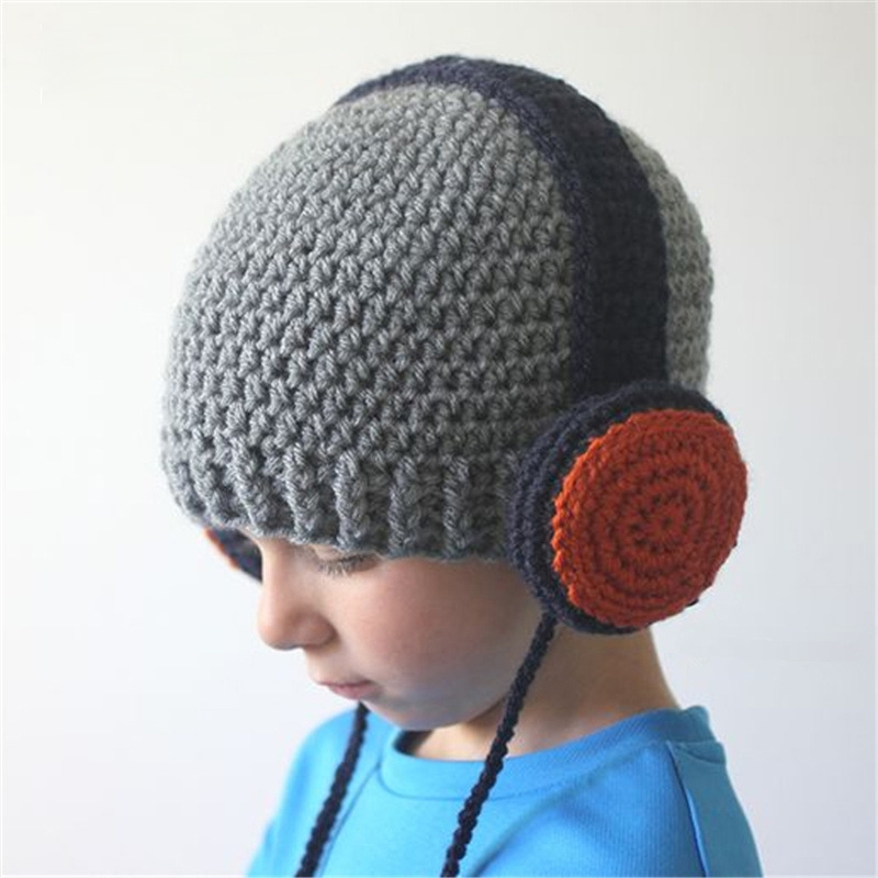 8.83$  Buy here - http://alizch.shopchina.info/go.php?t=32786569980 - CN-RUBR Children Headset Style Hand-Woven Hats Baby Boy Girls Warm Knitting Wool Cap Winter Hat for Children Christmas's Gift 8.83$ #aliexpressideas