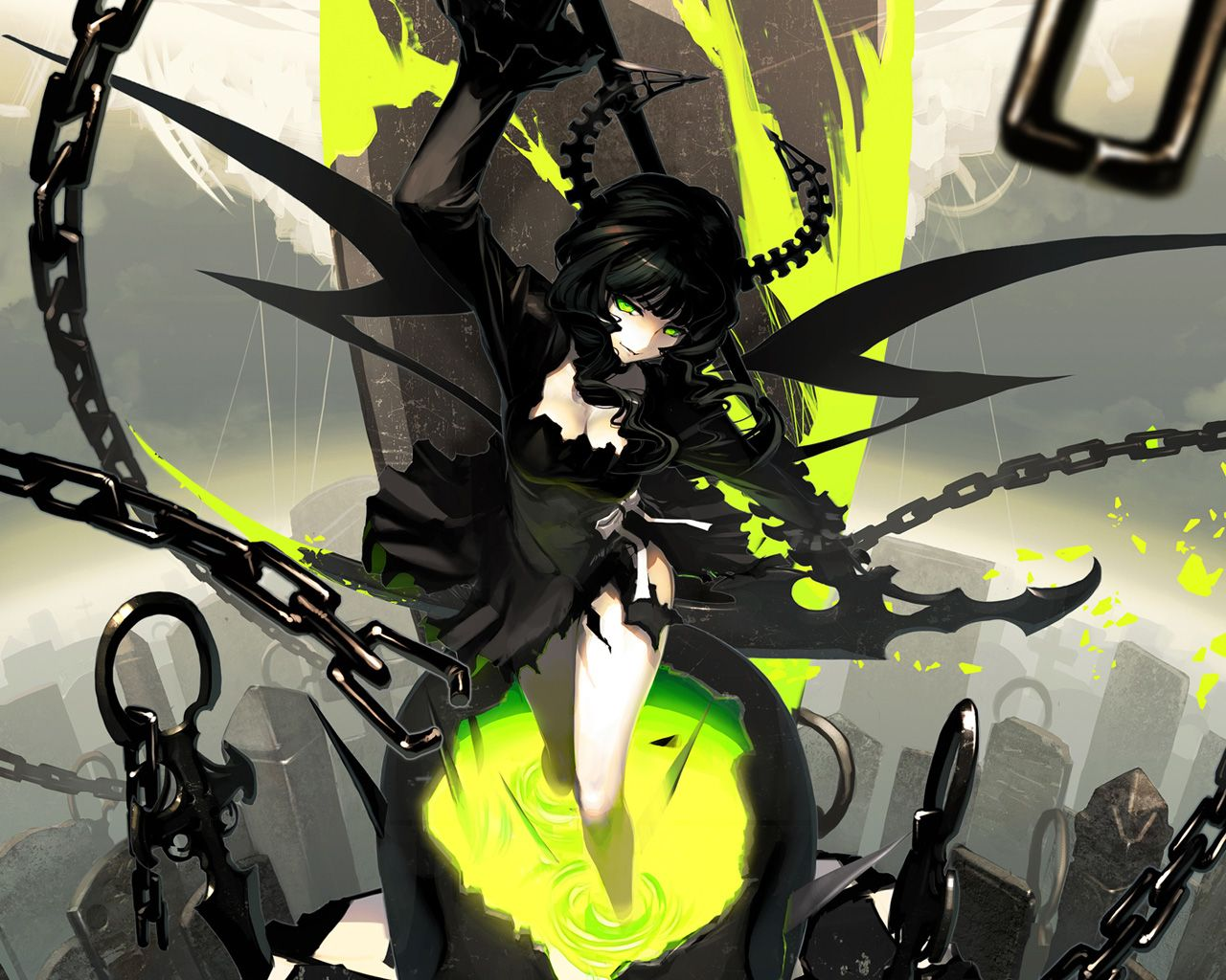 Anime Black Rock Shooter Dead Master Wallpaper Andlighet