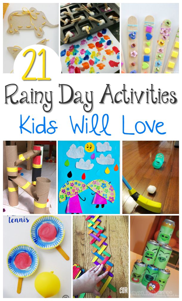 21 Rainy Day Activities Crafts With Images