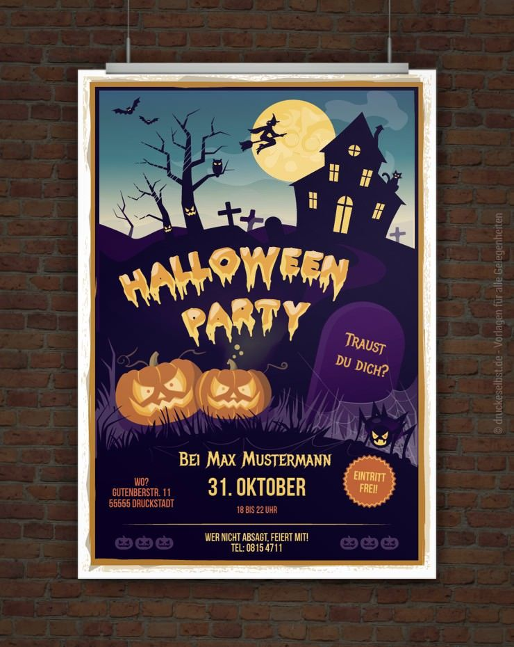 halloween flyer halloween karneval kinderschminken. Black Bedroom Furniture Sets. Home Design Ideas