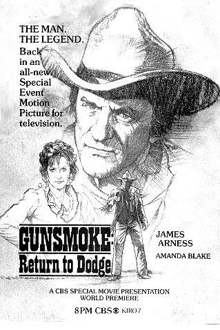 Gunsmoke Return To Dodge James Arness Gunsmoke Tv Guide