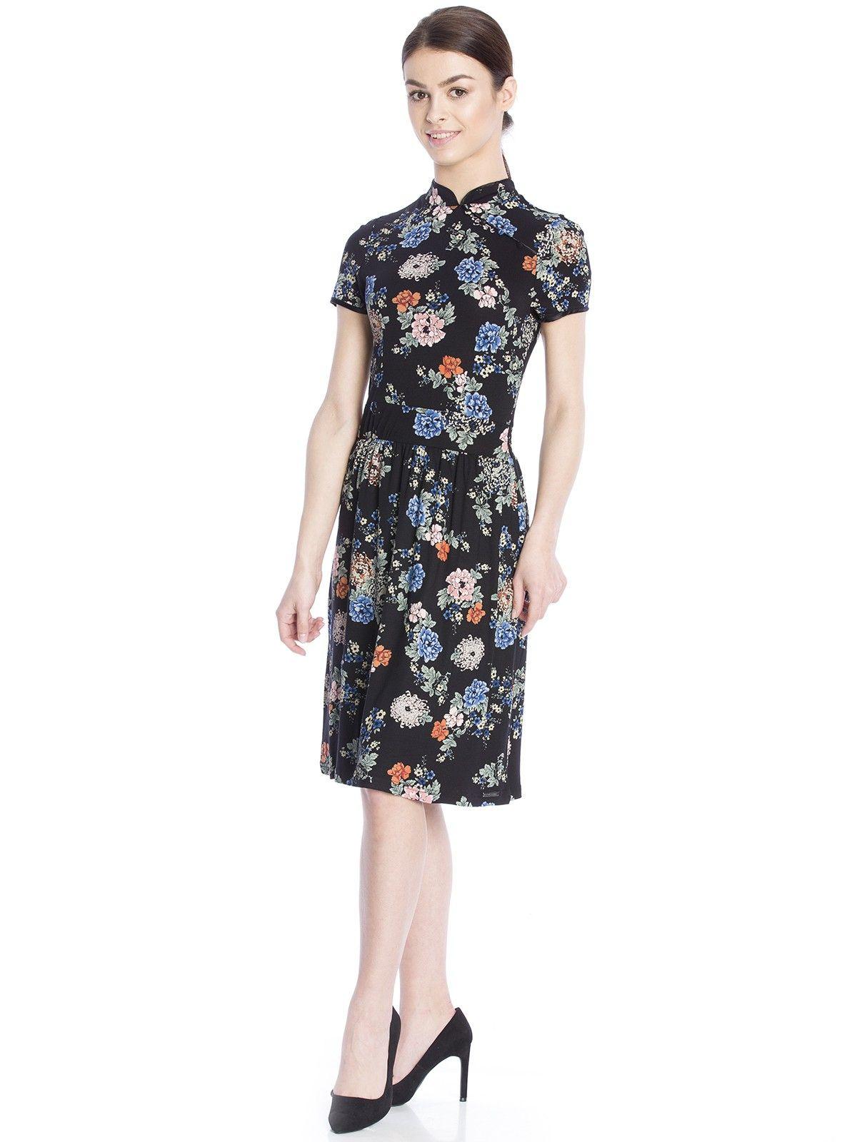 Vive Maria Shanghai Flowers Dress black allover – Bild 3