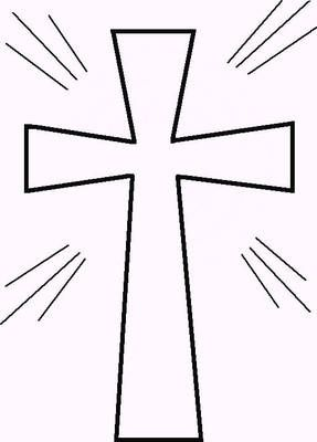 Printable Cross Template Clipart Best Cross Coloring Page