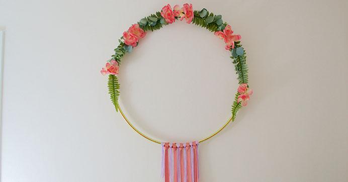 Diy Bohemian Macrame Fun Hoop Wreath Diy Crafts Sewing Dollar