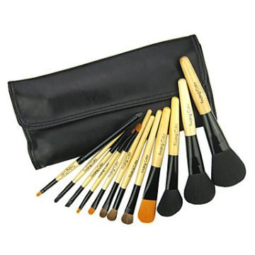 12pcs special cosmetic brush with free leather case  it