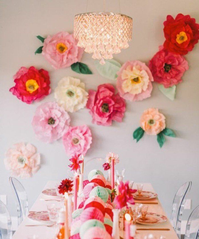 fabriquer une fleur en papier de soie 67 id es diy remarquables pompon papier papier de. Black Bedroom Furniture Sets. Home Design Ideas