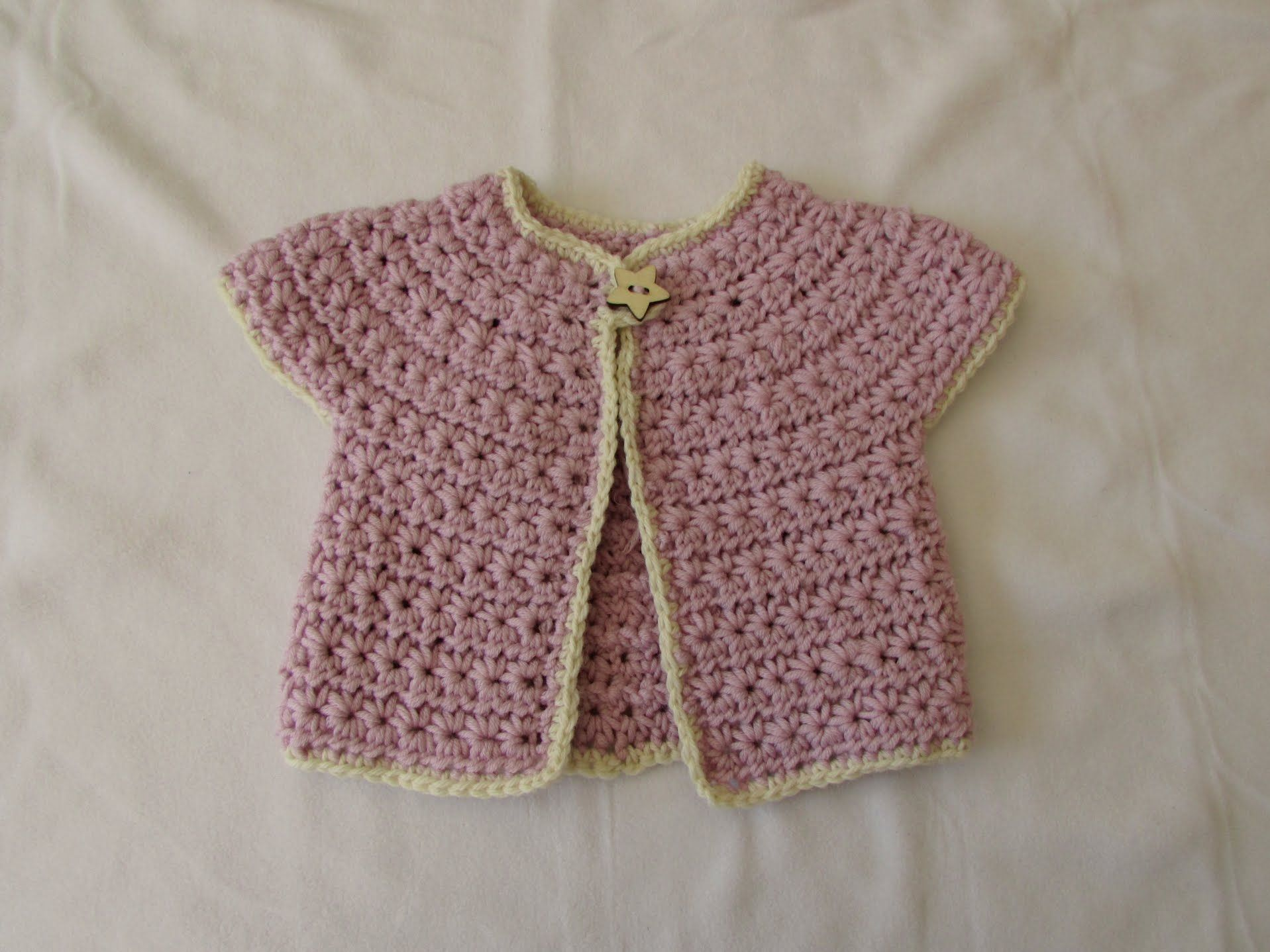 Correction make a foundation chain of 54 instead of 52 as stated how to crochet a chunky star stitch baby cardigan sweater jumper foundation chain 54 not 52 bankloansurffo Images