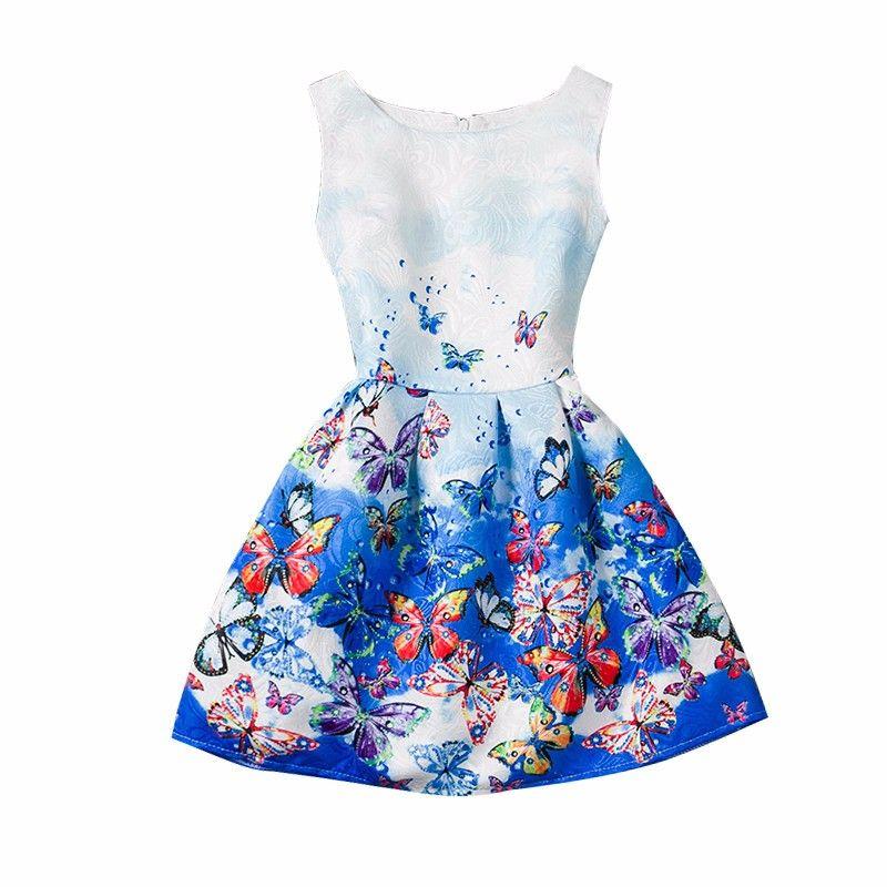 e2e412c289 Moda Meninas Vestido de Verão 2016 Meninas Adolescentes Vestidos de Festa  Vestido de Idade tamanho 6 7 8 9 10 11 12 Anos de Aniversários Princesa  vestidos ...