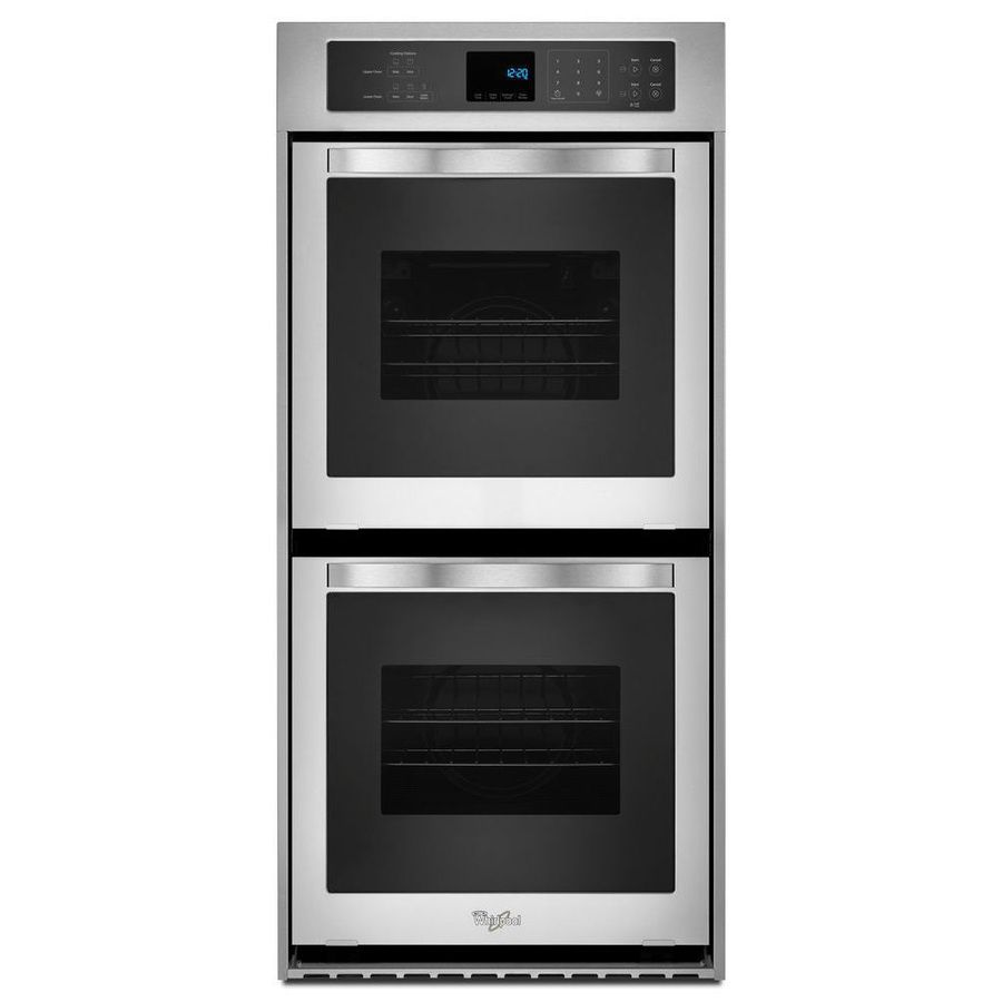 Whirlpool 24 Inch Electric Double Wall Oven With Cu Total Capacity Accubake Temperature Management System Touch Control Digital Display