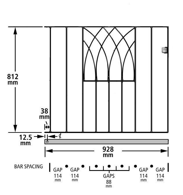 Details About Anavio Metal Garden Gate 838mm To 991mm Gap X 812mm