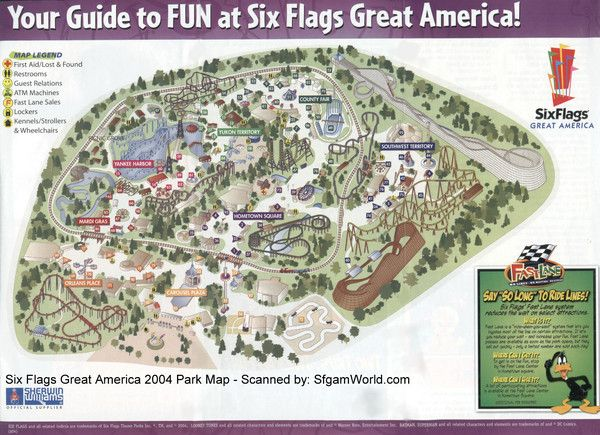 6 Flags Great America Gurnee Great America America Map America