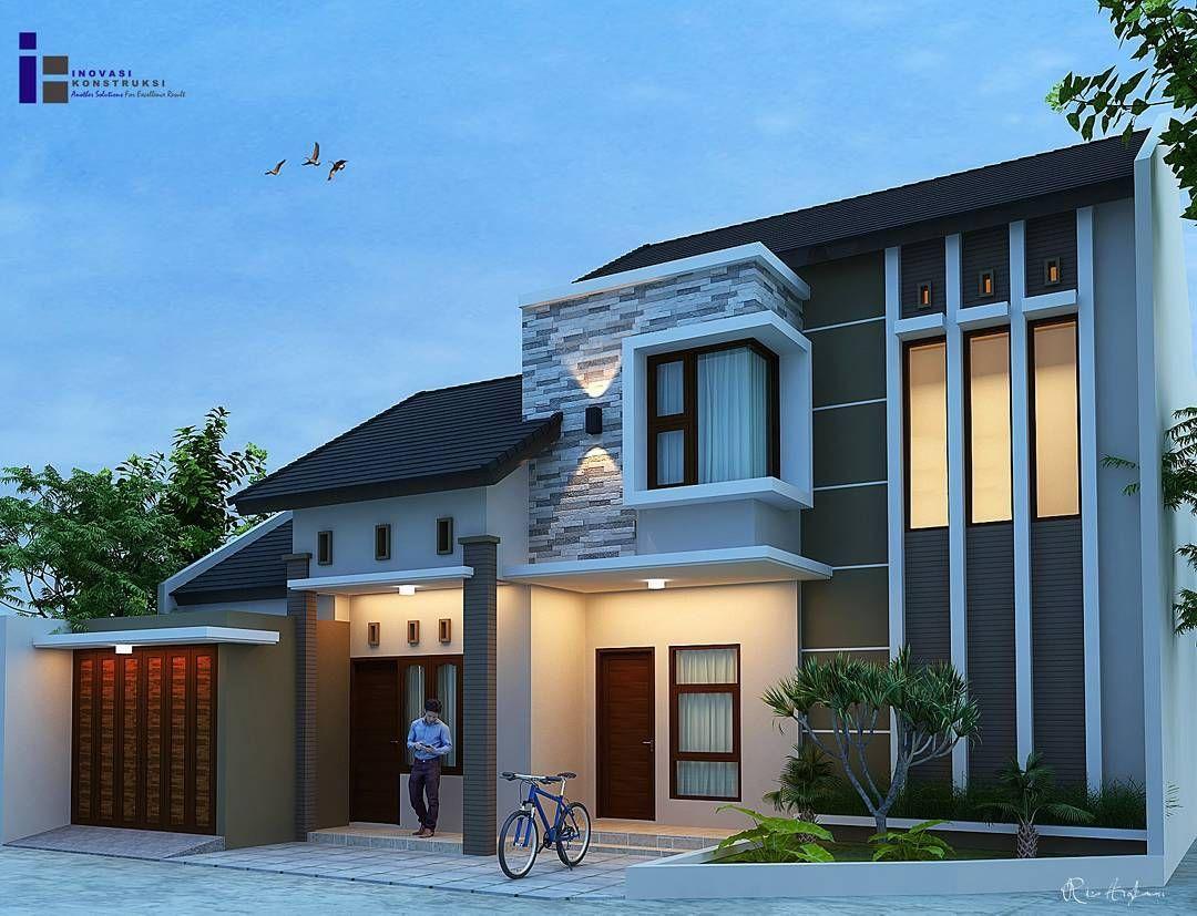 Desain Rumah Minimalis Modern Tampak Depan Cek Bahan Bangunan