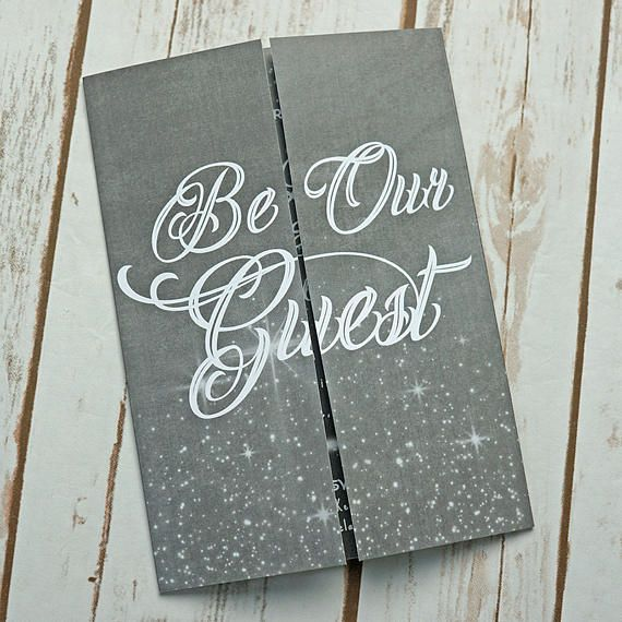 Disney Wedding Invitation: Be Our Guest, Disney Inspired Wedding Invitation, Wedding