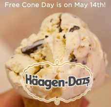 FREE Ice Cream Cone at Haagen-Dazs on 5/14 on http://hunt4freebies.com
