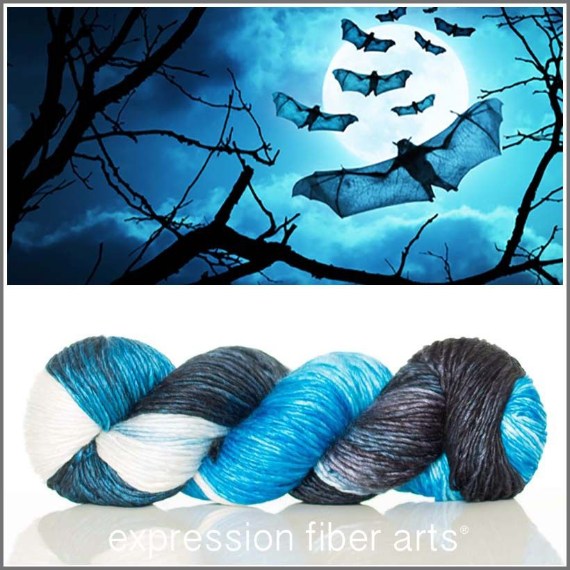 Nocturnal pearlescent worsted weight yarn